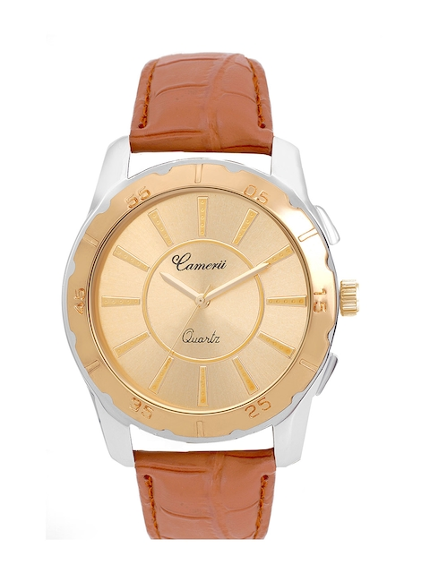 Camerii Men Rose & Gold-Toned Analogue Watch