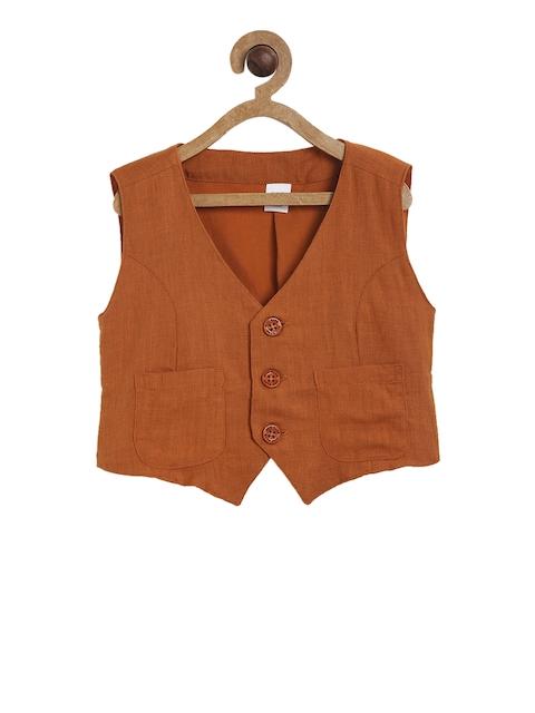 MINI KLUB Boys Brown Waistcoat