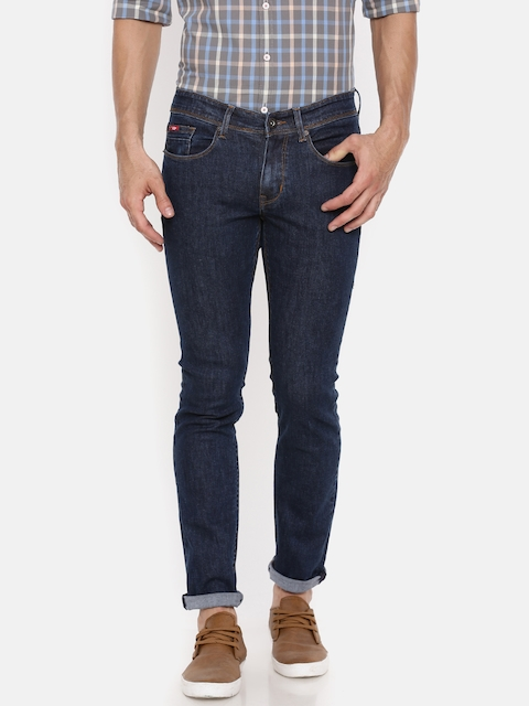 Lee Cooper Men Blue Slim Fit Mid-Rise Clean Look Stretchable Jeans