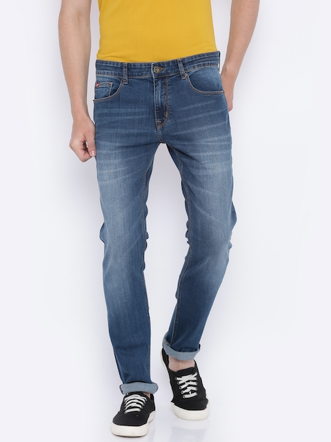 Lee Cooper Men Blue Frank Slim Fit Mid-Rise Clean Look Stretchable Jeans