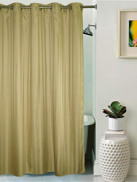 Lushomes Unidyed Dark Beige Polyester Shower Curtain