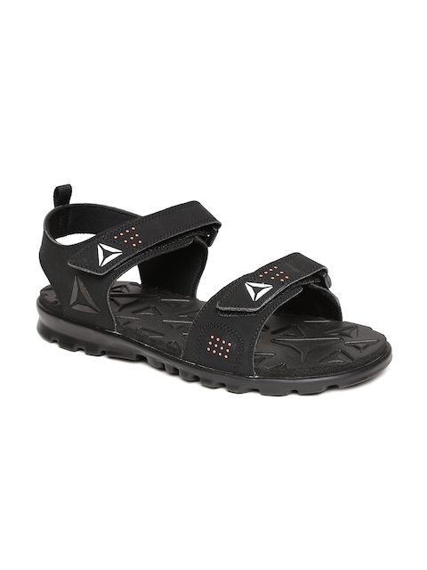 Reebok Men Black Royal Flex Sports Sandals