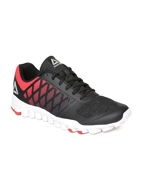 Reebok Men Black & Red Realflex TR Xtreme Running Shoes