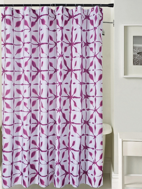 Deco Window Magenta Printed Shower Curtain