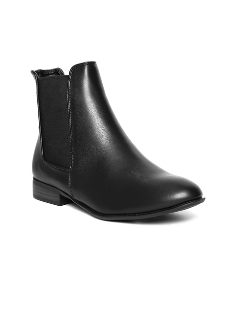 Allen Solly Women Black Flat Boots