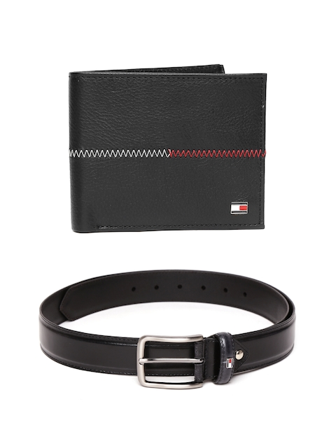 Tommy Hilfiger Men Leather Wallet & Belt