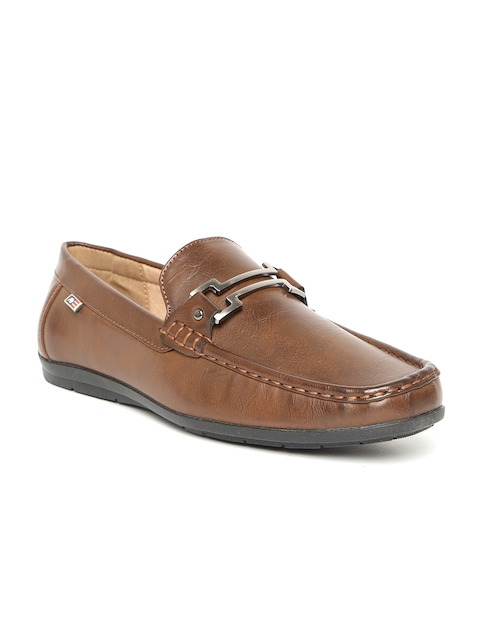 Arrow Men Brown Leather Loafers
