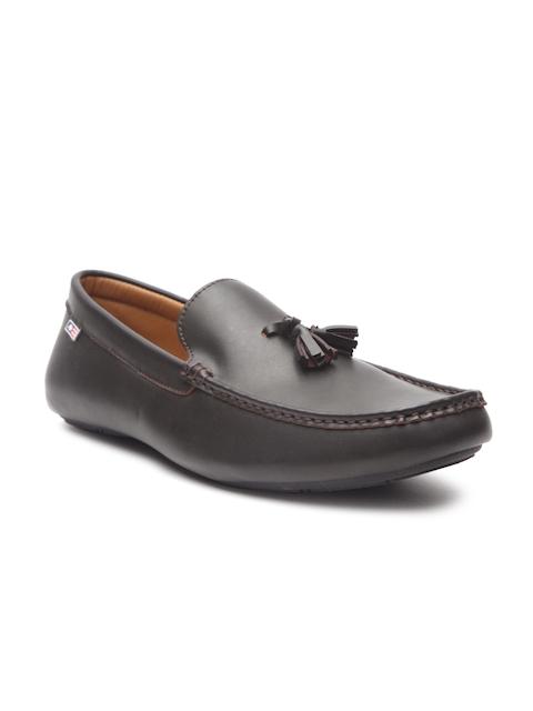 Arrow Men Coffee Brown Leather Tassel Loafers