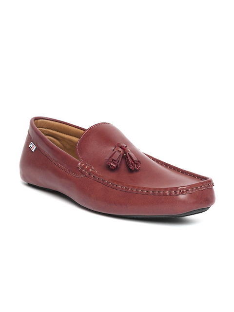 Arrow Men Red Leather Tassel Loafers