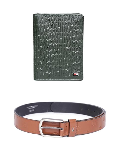 Tommy Hilfiger Men Genuine Leather Wallet & Belt