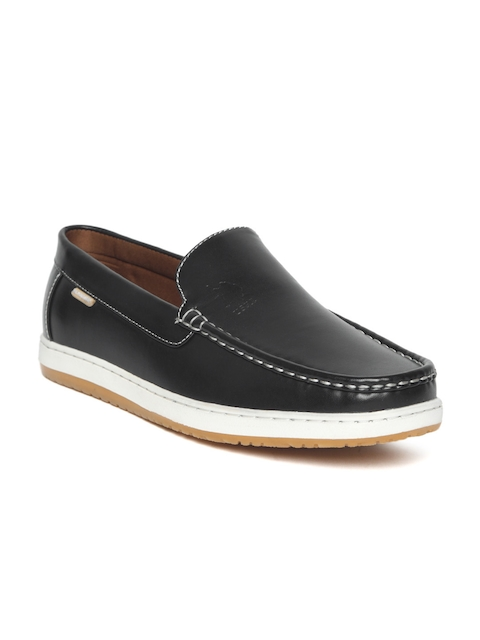 U.S. Polo Assn. Men Black Leather Loafers