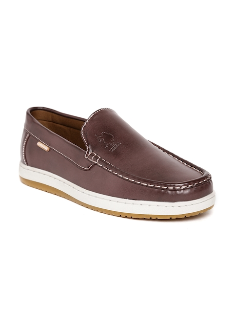 U.S. Polo Assn. Men Burgundy Loafers