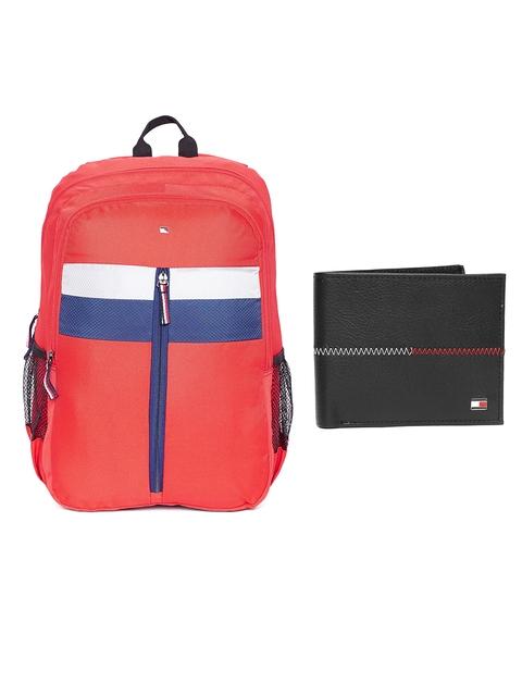 Tommy Hilfiger Men Genuine Leather Wallet & Unisex Backpack