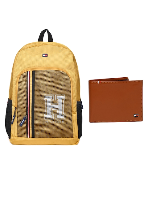 Tommy Hilfiger Men Genuine Leather Wallet & Unisex Backpack