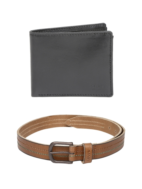 Levis Men Leather Wallet & Belt