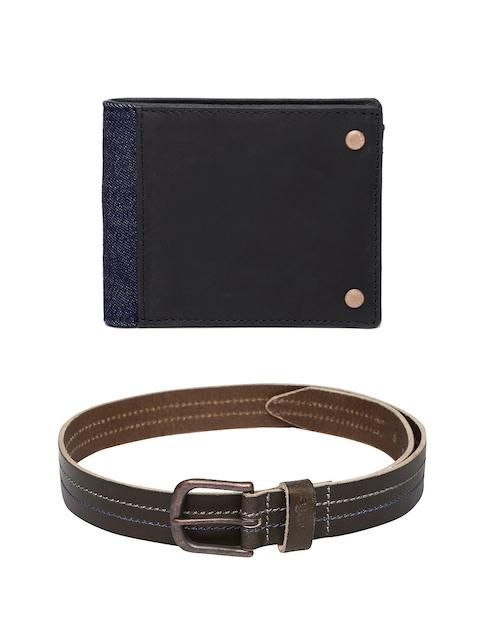 Levis Men Leather Wallet & Belt