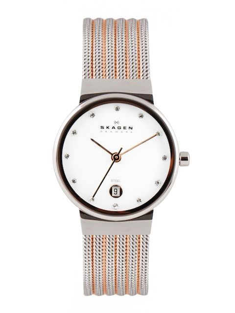 SKAGEN Women White Dial Watch