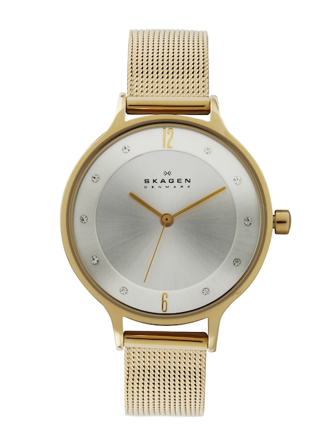 Skagen Women Silver Toned Dial Watch