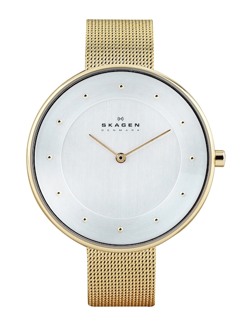 SKAGEN Denmark Women Silver-Toned Dial Watch SKW2141