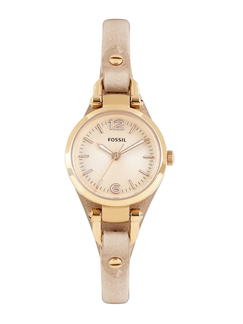 Fossil Women Rose Gold-Toned Dial Watch ES3262