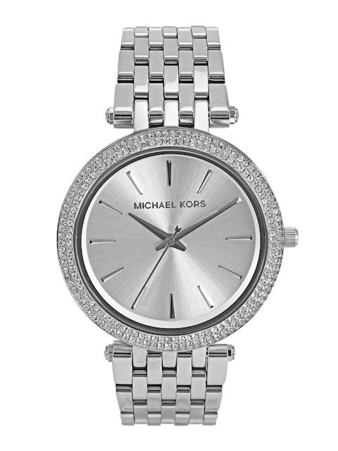 Michael Kors Women Silver-Toned Dial Watch MK3190I