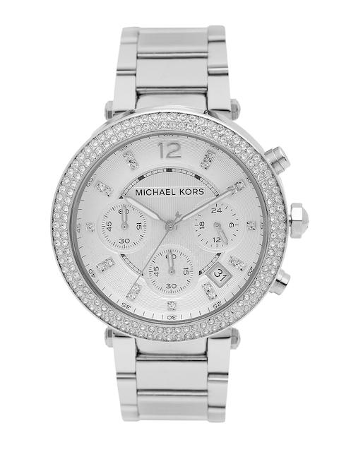 Michael Kors Women Chronograph White Dial Watch MK5353I