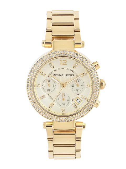 Michael Kors Women Chronograph Cream-Coloured Dial Watch MK5354I