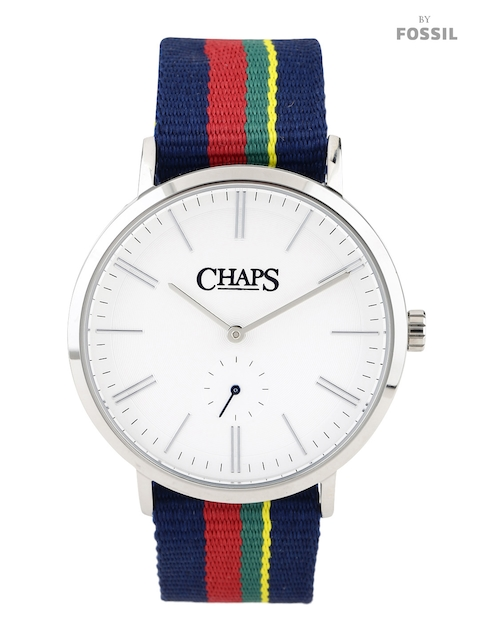 CHAPS DUNHAM Men White Dial Watch with Reversible Strap CHP5001