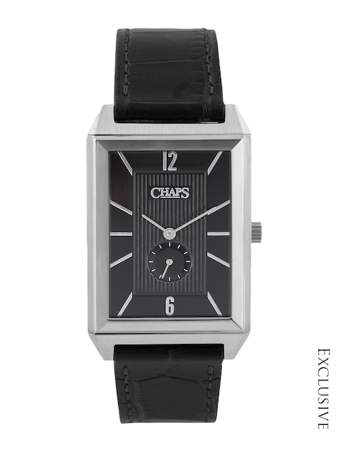 CHAPS AFFILIATE Men Black Dial Watch with Reversible Strap CHP5009