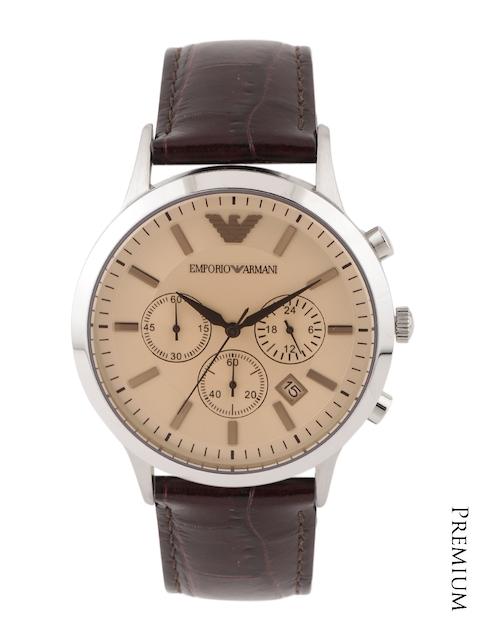 Emporio Armani Men Beige Chronograph Dial Watch AR2433