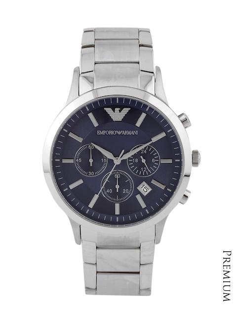 Emporio Armani Men Navy Chronograph Dial Watch AR2448