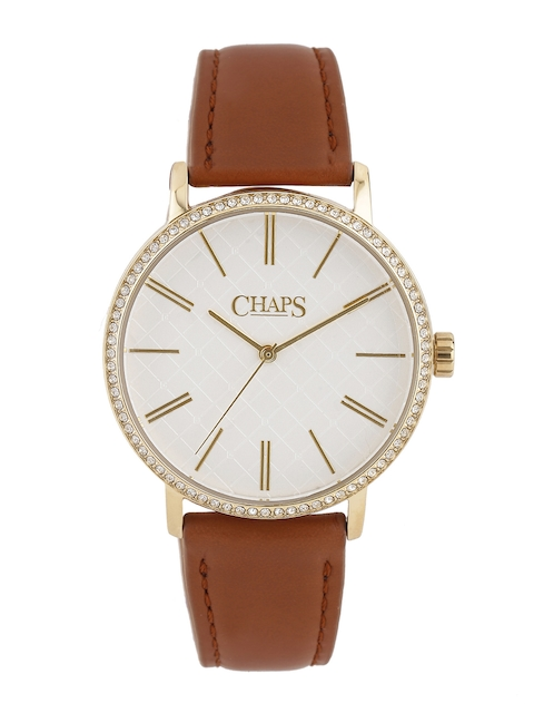 CHAPS WHITNEY Women White Stone-Studded Dial Watch CHP1001