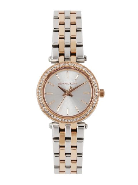 Michael Kors Women Silver-Toned Dial Watch MK3298I-2T
