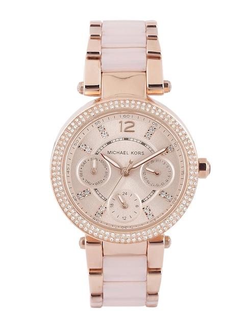 Michael Kors Women Pink Dial Watch MK6110