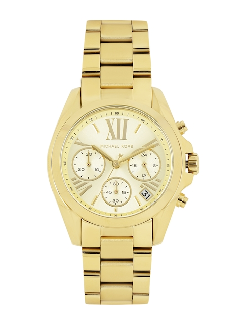 Michael Kors Women Gold-Toned Dial Chronograph Watch MK5798