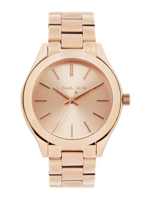 Michael Kors Women Rose Gold-Toned Dial Watch MK3513
