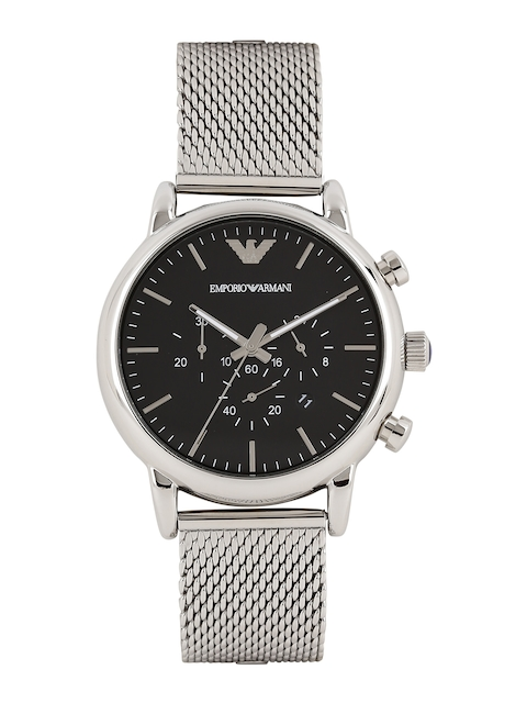 Emporio Armani Men Black Dial Chronograph Watch AR1808I