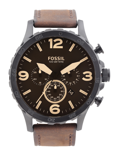 Fossil Men Brown Chronograph Dial Watch JR1487I