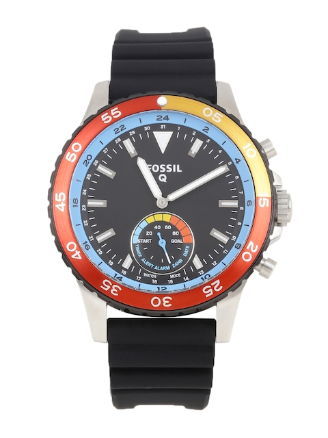 Fossil Men Black Q Crewmaster Hybrid Smart Watch FTW1124