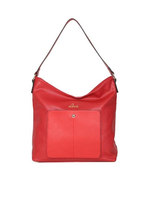 Lavie Red Solid Hobo Bag