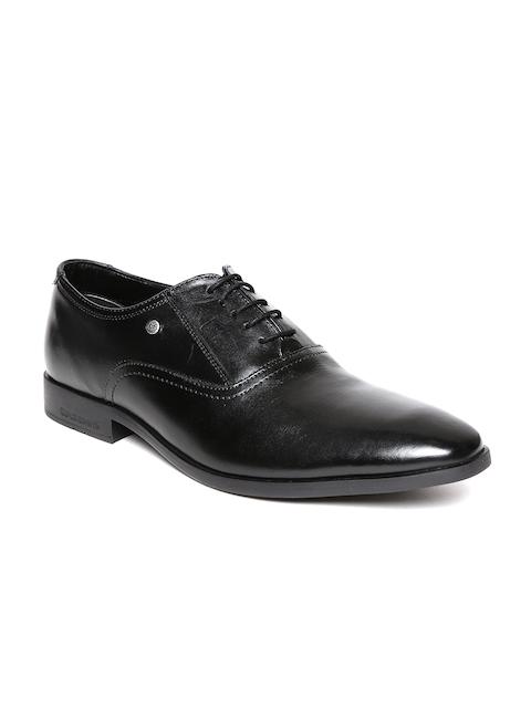 Blackberrys Men Black Genuine Leather Formal Oxfords