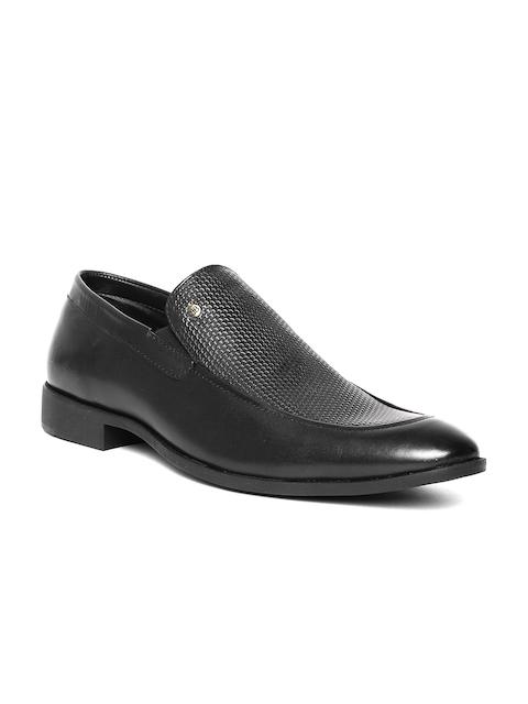 Blackberrys Men Black Textured Genuine Leather Semiformal Slip-Ons