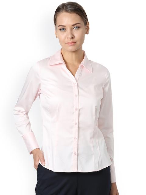 Allen Solly Woman Women Pink Regular Fit Solid Casual Shirt