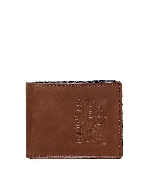 Levis Men Brown Solid Two Fold Leather Wallet