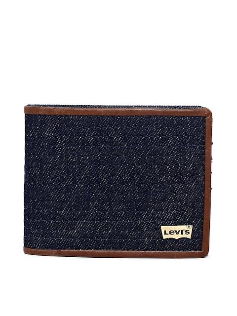 Levis Men Blue Textured Card Holder