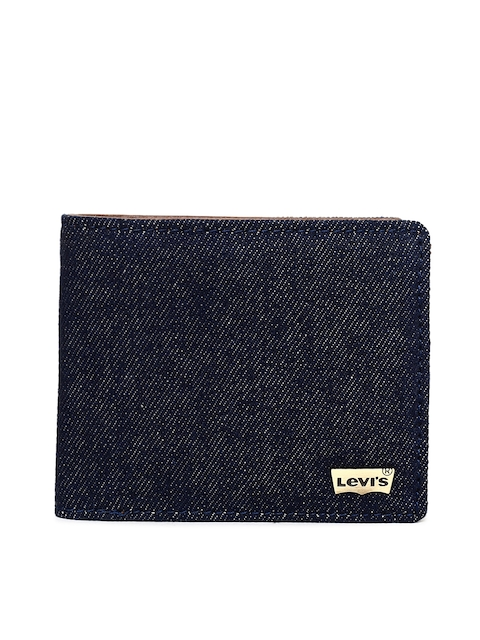 Levis Men Blue Solid Two Fold Wallet