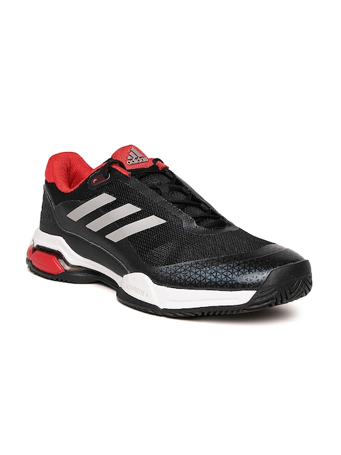 Adidas Men Black & Navy BARRICADE CLUB Tennis Shoes