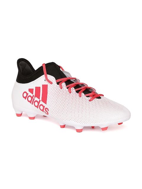 Adidas Men White & Red X 17.3 FG Printed Football Shoes