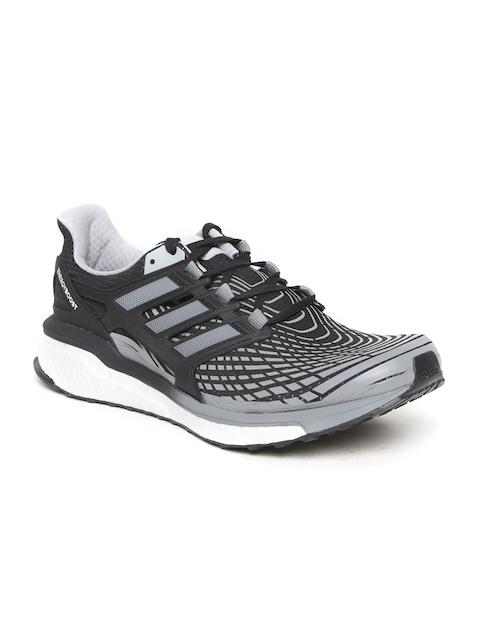 Adidas Men Grey & Black Energy Boost Running Shoes