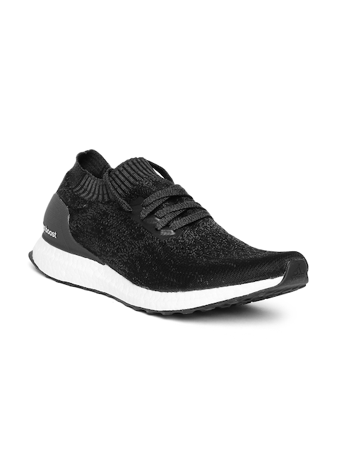 Adidas Men Black & Charcoal Grey Ultraboost Uncaged Running Shoes